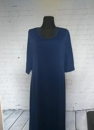 Базове синє плаття 16-18uk