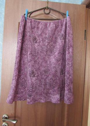 Легкая летняя юбка миди на резинке большого размера от evans  р.26 7xl, лучшая цена!