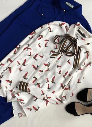 Элегантная рубашка с принтом zara