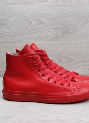 Красные резиновые кеды converse all star оригинал, размер 40 (высокие)