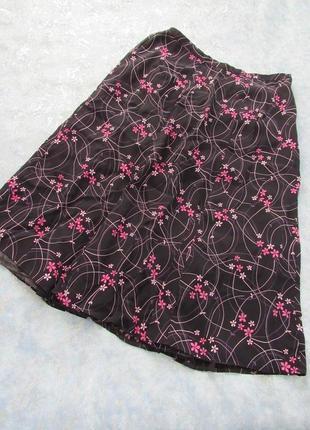 Красивенная черная юбка миди из вискозы от first avenue р.14 xl.  тренд сезона!