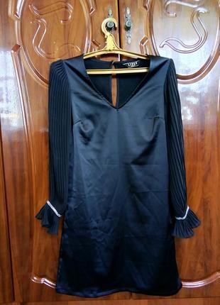 Шикарное платье с шифоновыми рукавами lipsy(оригинал)
