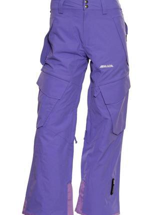 Жіночі гірськолижні штани armada faid xs - sm violet