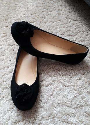 Замшевые удобные балетки туфли gerry weber