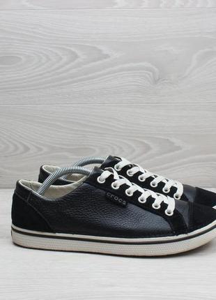 Кожаные черные кеды crocs оригинал, размер 39