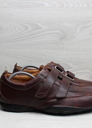 Кожаные мужские мокасины timberland оригинал, размер 45 - 46 (кроссовки на липучках)