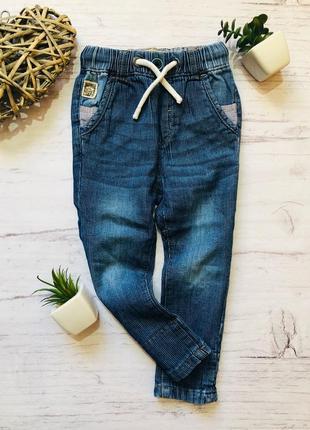 Очень стильные джинсы в полоску next 1-1.5 года (86) будут на 2-3 года