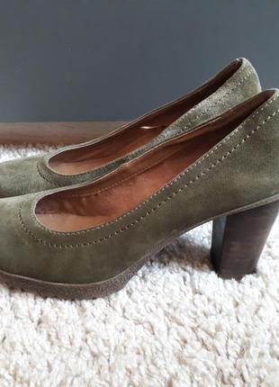 Замшевые туфли цвета хаки 5th avenue