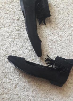 Туфли лодочки с бахромой