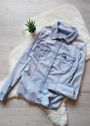 Базовая джинсовая рубашка h&m
