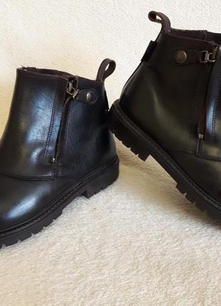 Добротные кожаные ботинки фирмы 4riders ( германия) р 39 стелька 25 см3 фото