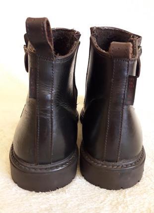 Добротные кожаные ботинки фирмы 4riders ( германия) р 39 стелька 25 см4 фото