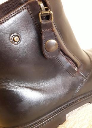 Добротные кожаные ботинки фирмы 4riders ( германия) р 39 стелька 25 см7 фото