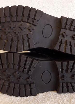 Добротные кожаные ботинки фирмы 4riders ( германия) р 39 стелька 25 см8 фото