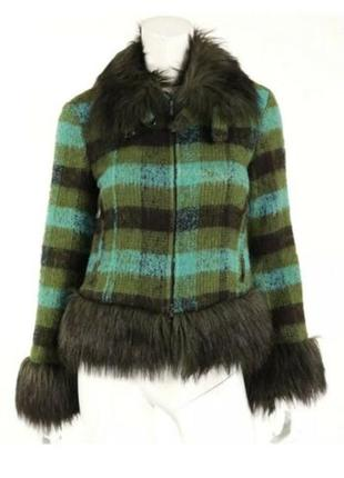 Шерстяное пальто moschino
