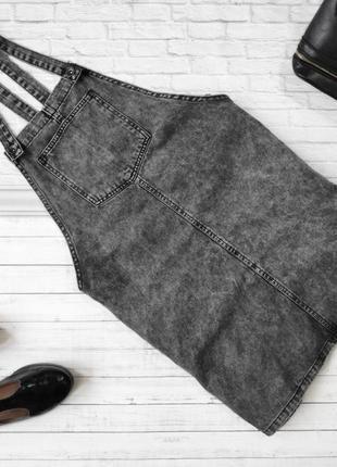 Сарафан джинсовый серый newlook