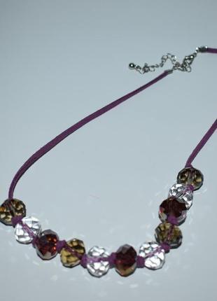 Новый набор шикарное ожерелье и серьги glass beads a illusitions винтаж англия