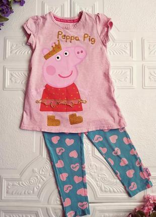 Летний комплект с пеппой peppa pig (туника и лосины)