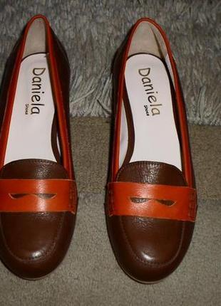 Роскошные мягкие яркие бренд.туфли-лоферы daniela,полн.кожа,италия