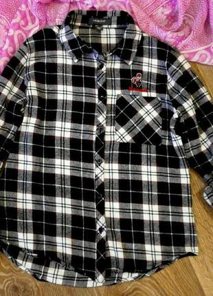 Рубашка теплая для девочки 11-13лет, рукав трансформер