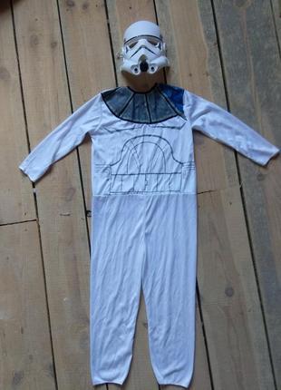Карнавальный костюм штурмовик star wars универсальный размер с маской