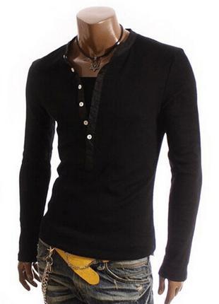 Мужской свитшот, свитер  черный №5