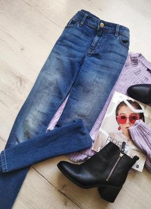 Винтажные джинсы прямого кроя на высокой посадке от f&f