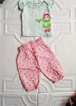 Летний хлопковый комплект (футболка и штанишки)