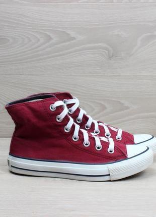 Красные высокие кеды с двойным верхом converse all star оригинал, размер 36.5