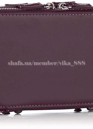 Клатч лаковый на два отделения, сумка через плечо david jones 4011 темно-фиолетовый3