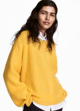 Яркий обьемный свитер h&m мохер