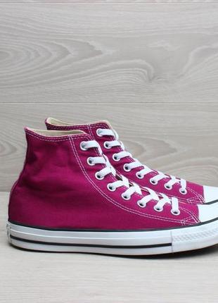 Яркие розовые кеды converse all star оригинал, размер 40 (высокие конверс)