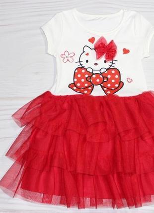 Уценка! нарядное красное платье с китти, турция