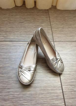 Качественные туфли k by clarks wide fit, оригинал. кожа