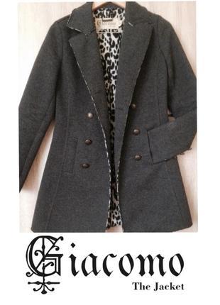 Люксовое шерстяное пальто giacomo the jacket