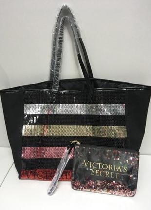 Сумка шоппер женская с косметичкой в комплекте2