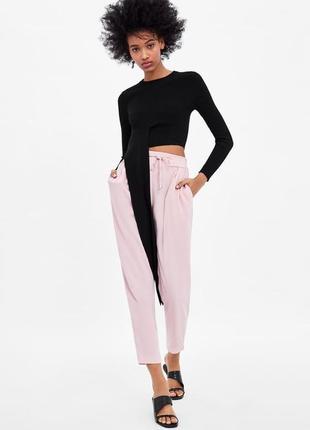 Zara брюки с эластичной талией, l