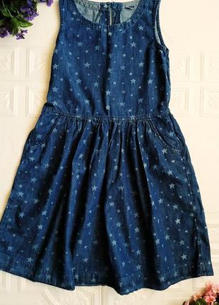 Джинсовое платье сарафан gap