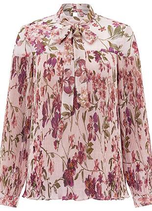 Шикарная плиссированная блуза  monsoon 12 ( l )