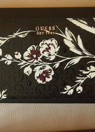 Guess кошелек портмоне цветы ремешок