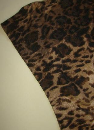 Стильное трикотажное платье next в актуальный принт m-l6 фото