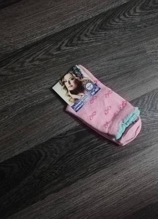 Носки бирюзовый розовый бантикопт розница