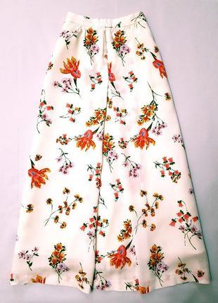 Monsoon юбка миди цветочный принт цветы вискоза xxs-xs
