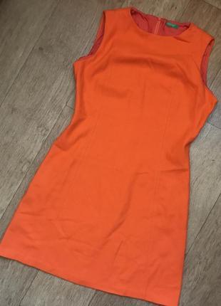 Бредовое яркое шерстяное платье а-силуэт benetton натуральное