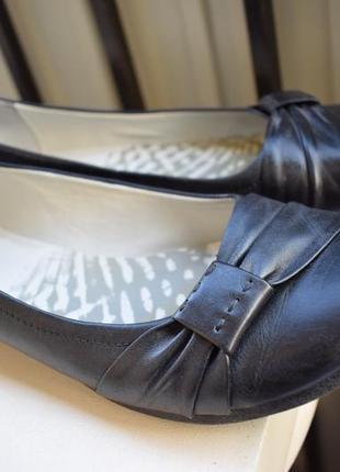 Кожаные туфли лоферы балетки мокасины р.7 р.40 26,2 см
