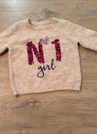 Тепленький свитер для девочки номер 1