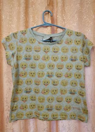 Стильная футболочка  топ emogi от fb sister