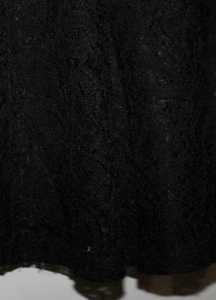 Черное платье topshop , красивое кружево, отличное качество ! — уценка платьев —3