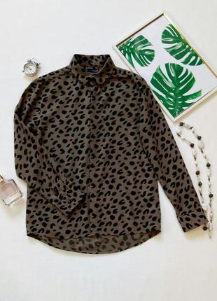 Стильная рубашка с актуальным принтом на модницу1