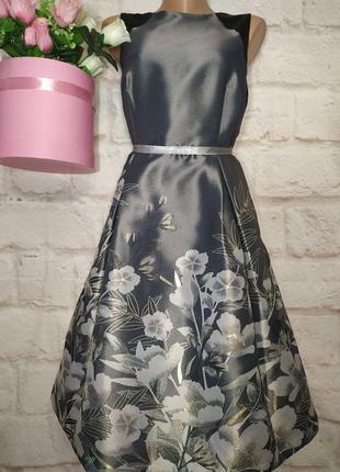 Платье миди нарядное пышная юбка карманчики р 16 moonsoon большой выбор!!